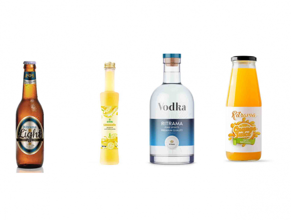 presentation of use of self adhesive materials in beer, vodla and liquor labels